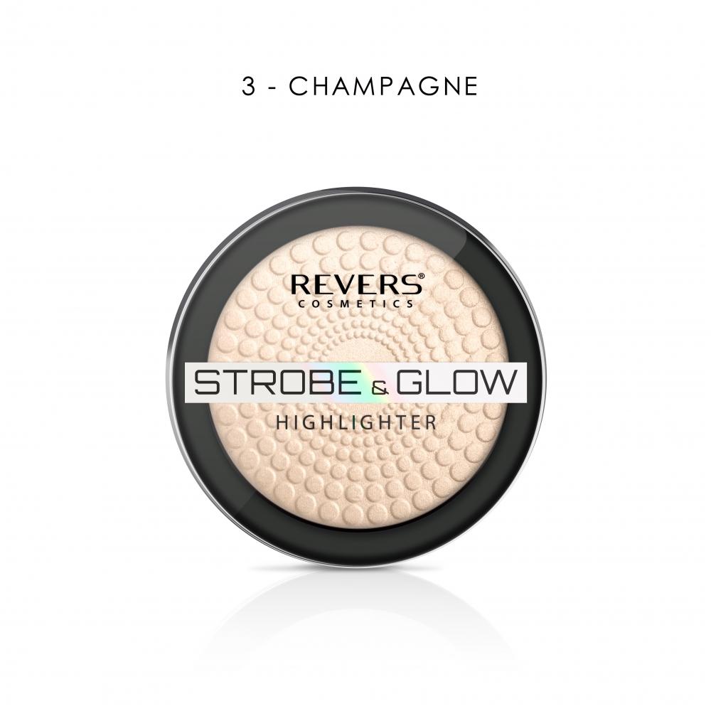 puder rozswietlajacy strobe glow highlighter 1 - Puder rozświetlający Strobe & Glow Highlighter - Revers Cosmetics