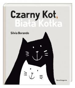 czarny kot, biała kotka
